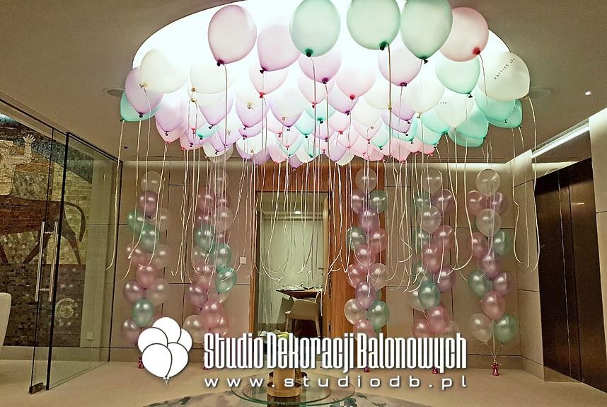 Balony z helem jako dekoracja Spa