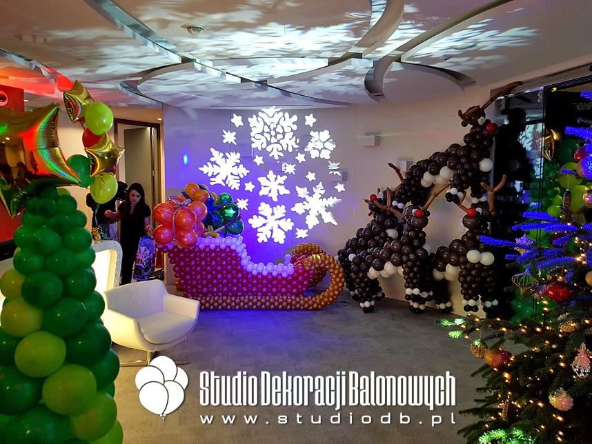 Mikołajkowe dekoracje balonowe dla dzieci