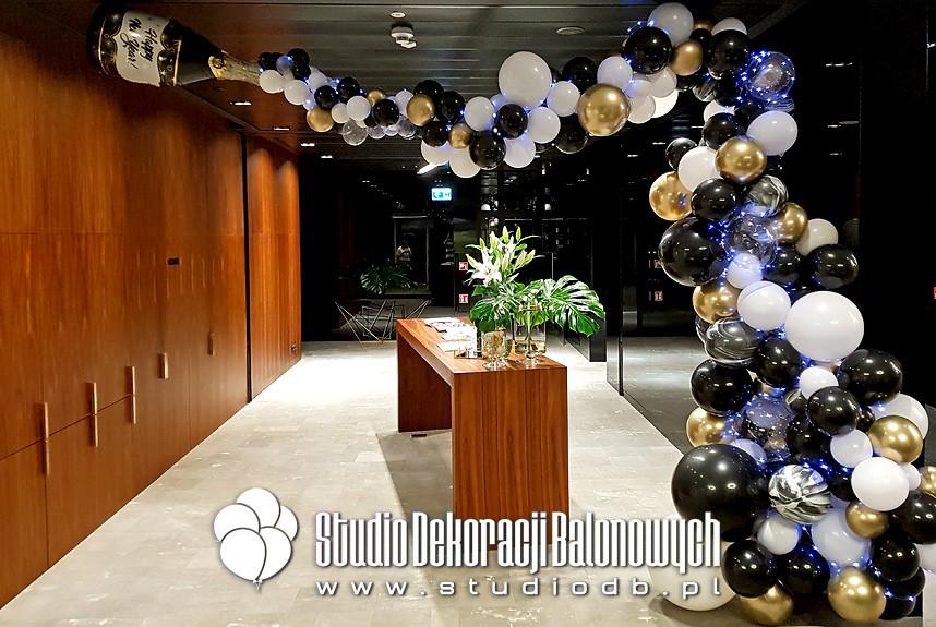 Sylwestrowa dekoracja balonowa