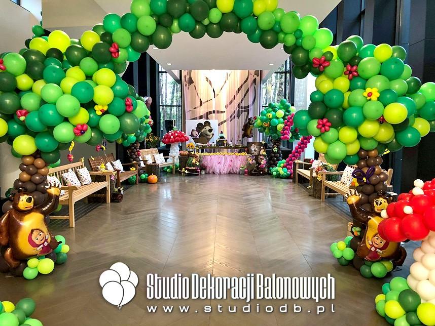 Urodzinowa dekoracja balonowa dla dziewczynki