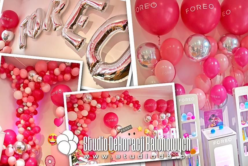 Dekoracje balonowe Showroom'u dla marki FOREO