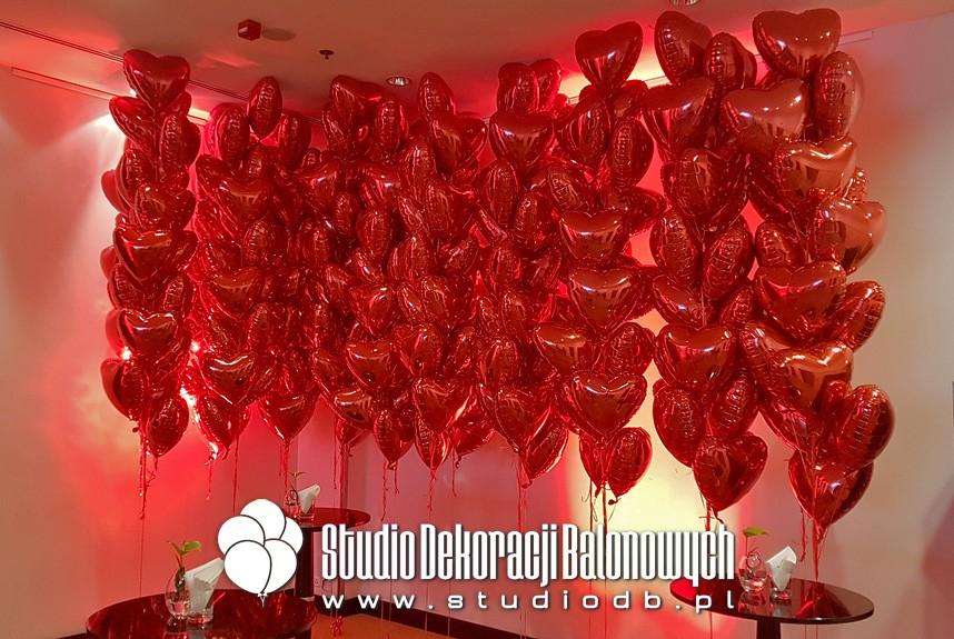 Dekoracje balonowe, balony z helem - Walentynki