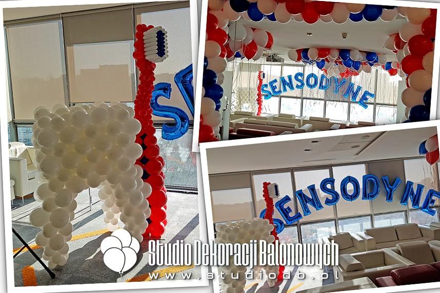 Dekoracje balonowe biura dla marki Sensodyne