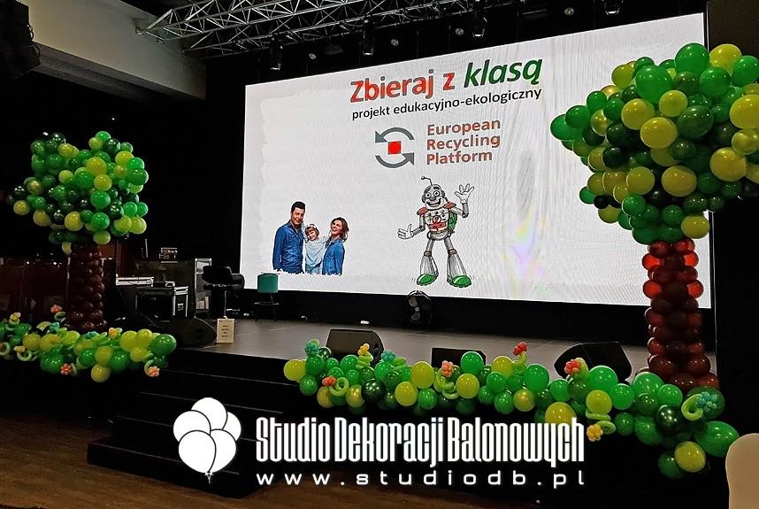 Dekoracje balonowe podczas finału akcji