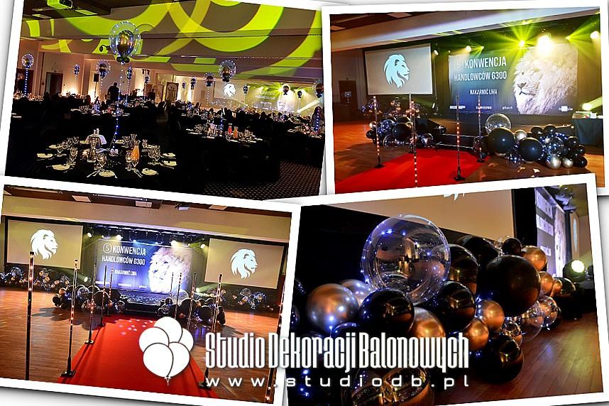Dekoracje z balonów podczas eventu firmowego