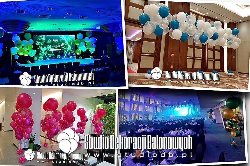 Balony giganty z helem jako efektowna dekoracja eventowa