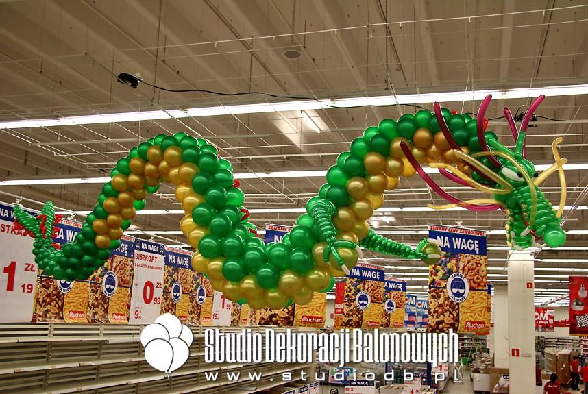 Chiński Smok z balonów