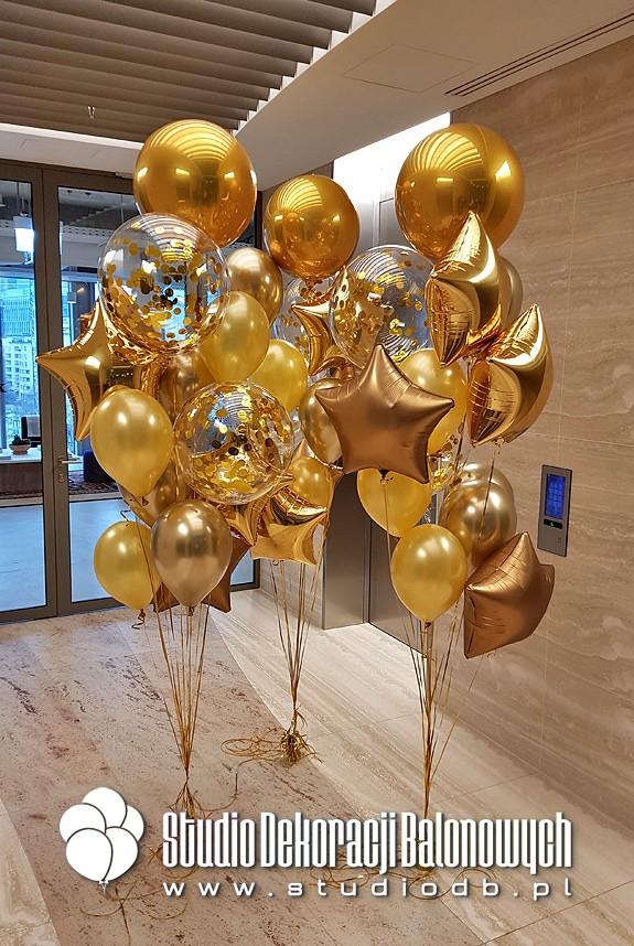 Złoty w bukietach balonowych - klasyka w nowym wydaniu
