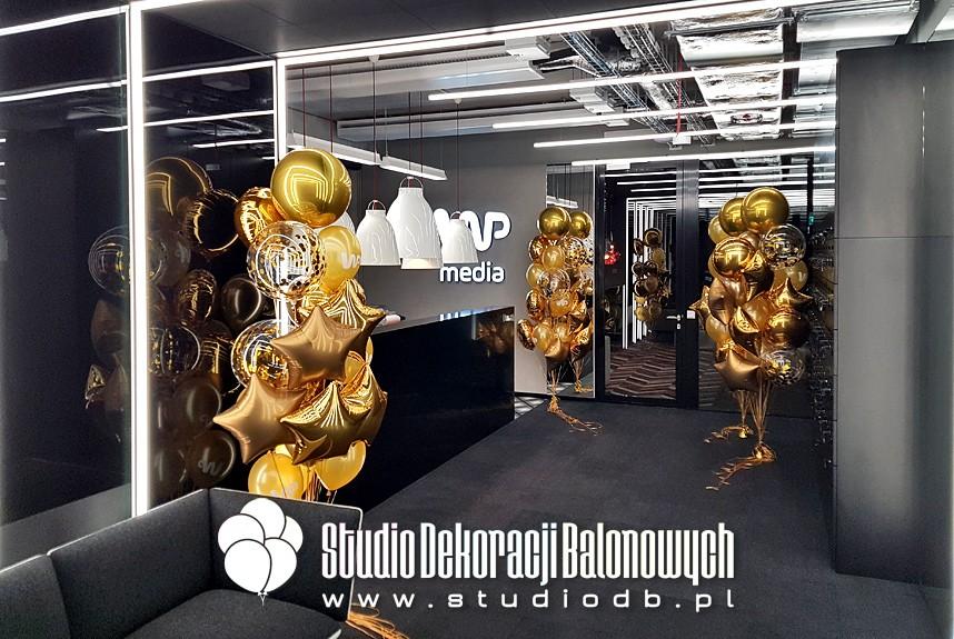 Dekoracje balonowe na otwarciu nowego biura Wirtualnej Polski