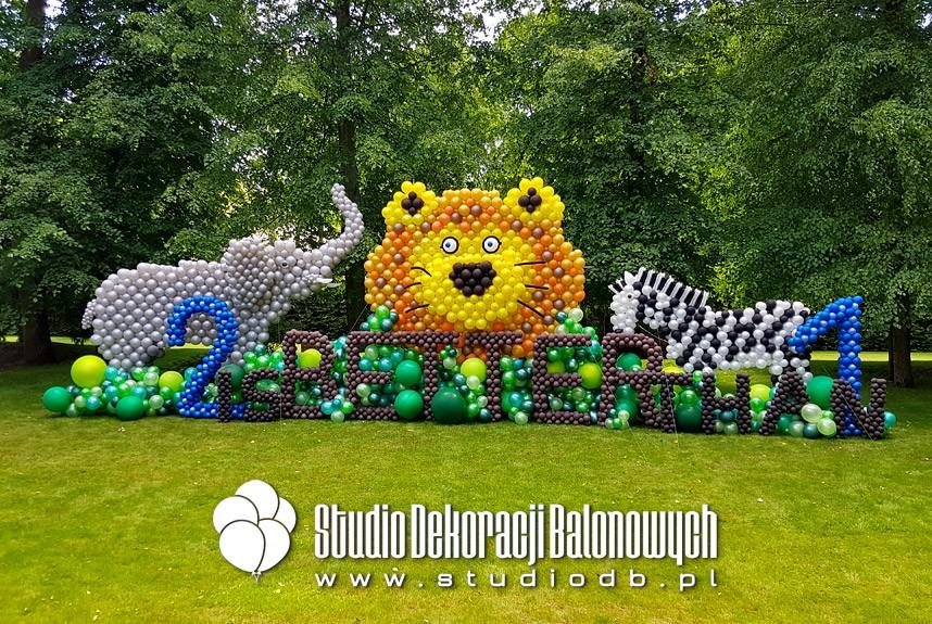 Urodzinowe dekoracje z balonów w temacie