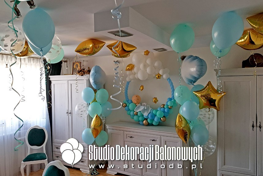 Dekoracje balonowe na przyjęciu Baby Shower