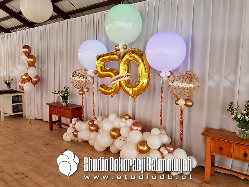 Jubileuszowe dekoracje z balonów - Warszawa
