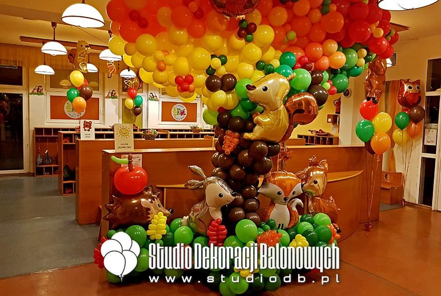 Dekoracja balonowa z okazji Dnia Przedszkolaka