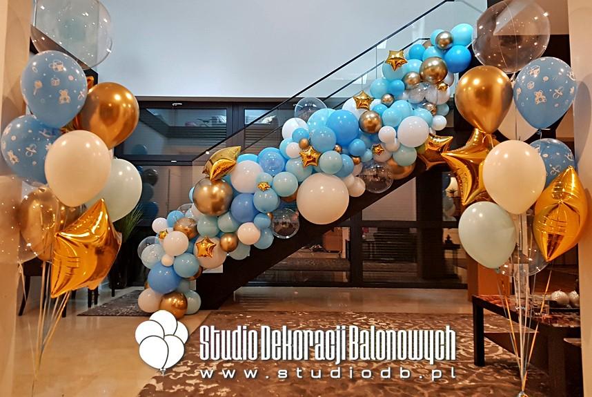 Dekoracje balonowe w dostawie do domu - dekoracja z balonów na powitanie nowonarodzonego dziecka w domu