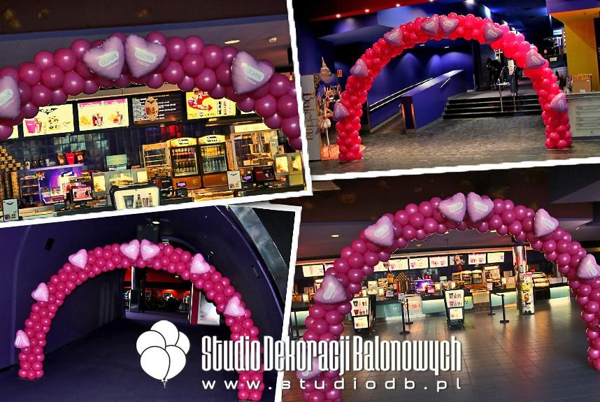 Bramy balonowe jako dekoracja walentynkowa