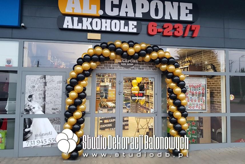 Brama z balonów Warszawa - otwarcie nowego punktu marki Al.Capone w Michałowicach