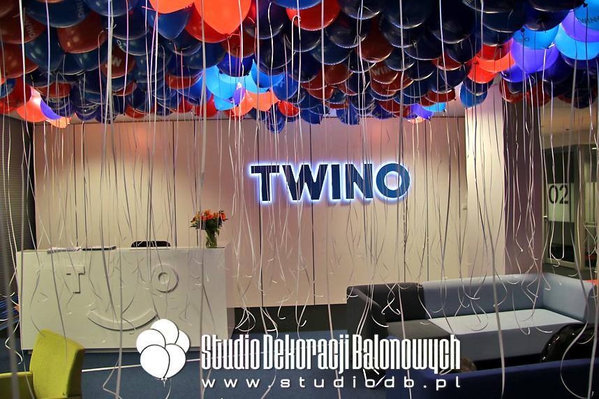 Balony z helem na otwarcie biura dla marki Twino