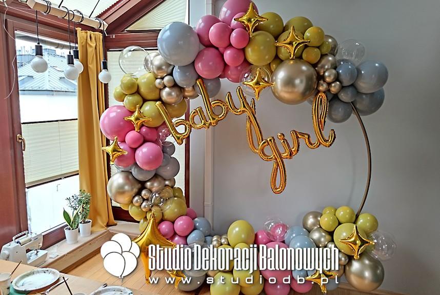 Dekoracje balonowe Warszawa - Ścianka balonowa jako dekoracja przyjęcia Baby shower