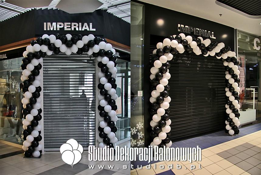 Bramy balonowe jako dekoracja sklepów marki Imperial