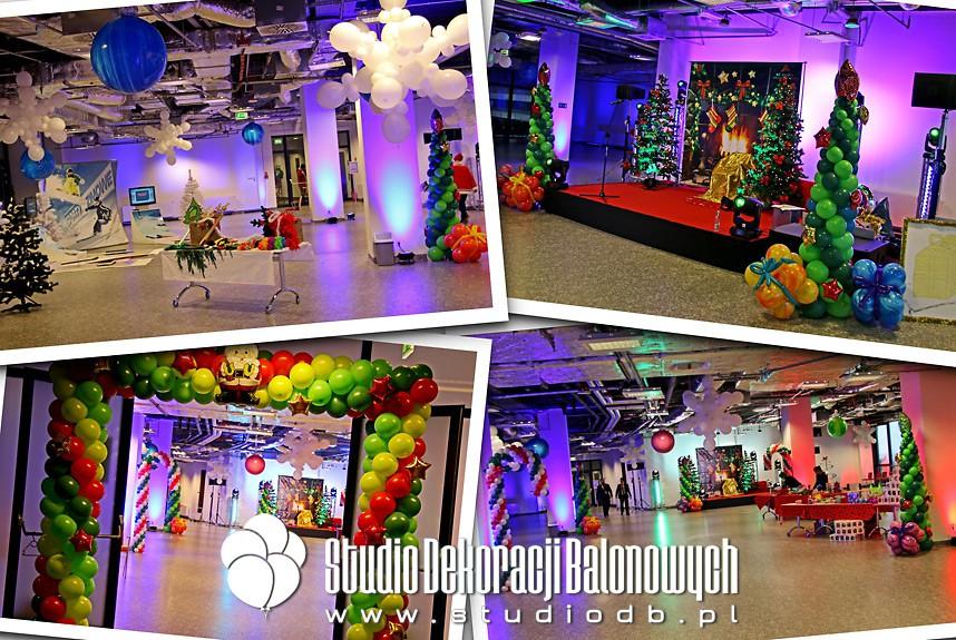 Dekoracje balonowe na imprezie Mikołajkowej
