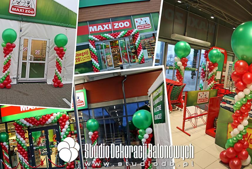 Dekoracje balonowe na otwarcie sklepów marki Maxi Zoo