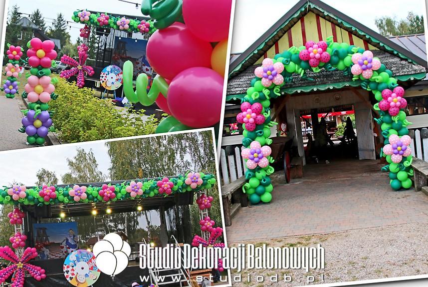 Dekoracje z balonów jako scenografia pikniku plenerowego dla rodzin z dziećmi
