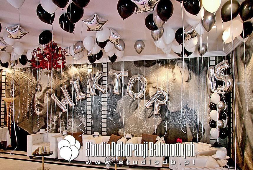Balony z helem jako dekoracja urodzinowa