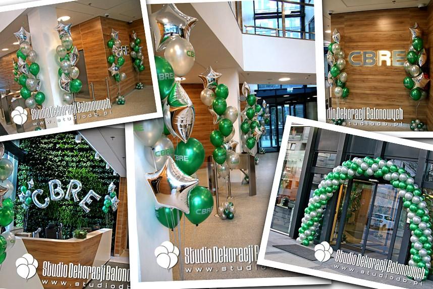 Dekoracje z balonów na otwarcie biura w Warszawie