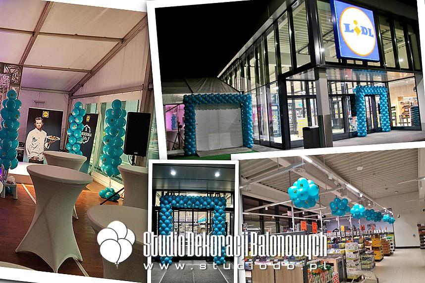 Dekoracje z balonów na otwarciu sklepu Lidl w Radzyminie